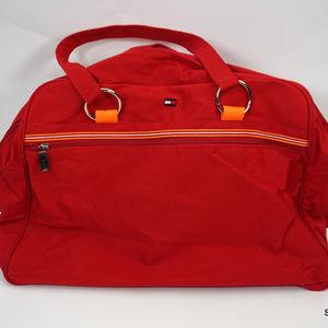 VTG Tommy Hilfiger Duffle Gym Bag Red Flag Logo